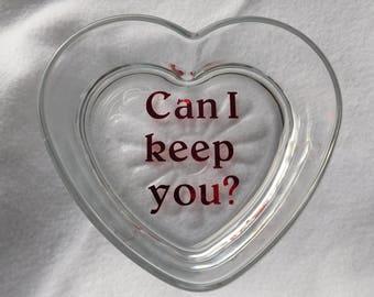 Heart Shaped Glass Jewelry/Trinket Dish