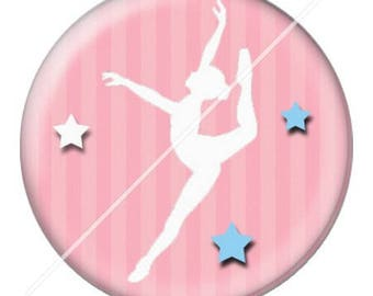 resin cabochon mounted on a stick dance teacher 13 25 mm