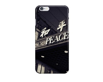 OS/ photo iPhone case photo Samsung Galaxy case Shanghai Peace Hotel black and white photography vintage editorial noir Chinese characters