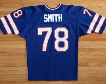Buffalo Bills Bruce Smith UNSIGNED CUSTOM Made Blue Jersey iYWSvw4ci