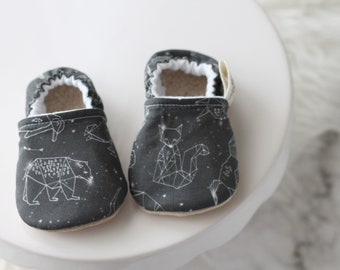 0-6 Months Astronomy Baby Shoes, Baby Boy Shoes, Baby Girl Shoes, Baby Booties, Baby boy Moccasins, Baby Girl Moccasins, Baby Shoes