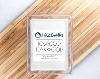 Tobacco Teakwood Tobacco Wax Melts Manly Wax Melts Teakwood Wax Melts Teakwood Tobacco Wax Melts Wax Tarts Soy Wax Melts Scented Wax Melts
