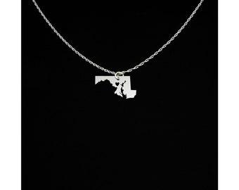 Maryland Necklace - Maryland Jewelry - Maryland Gift
