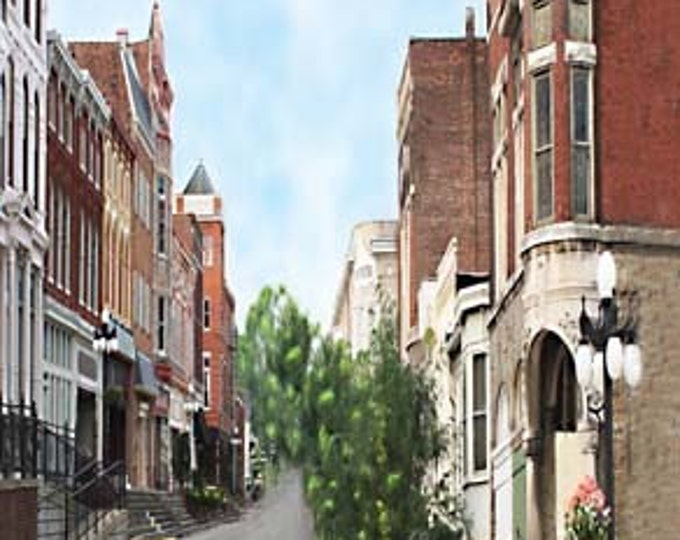 Kentucky, Winchester, Main Street, Giclee Print on Fine Art Paper or Canvas