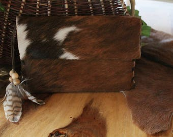 WarBags iPad Case, small pouch, Cowhid & Feathers