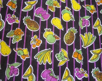 Vintage Fabric, Fruit Fabric, Summer Fabric, Cotton Fabric, Summer Fruits, Novelty Fabric, Sewing Fabric, Vintage, Fabric & Notions, Fabric