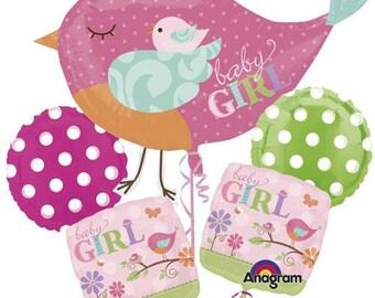 Baby Shower Balloon Bouquet,Baby Girl balloons, Balloon Bouquet, New Baby Girl Balloons,