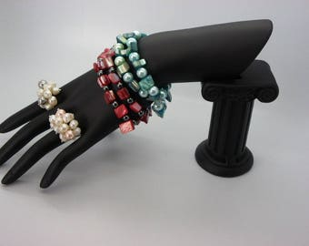 display bracelets and rings super black commercial