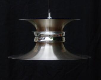 Lustre lampe scandinave soucoupe métal space age chrome / lumière plafond scandinave 70s  / Holy10 lighting PARIS vintage