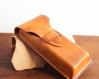 handmade pen case, fountain pen case, pen and pencil case, Handmade Leather Pen Case ,Leather Pen Case, Leather Pen Holder,