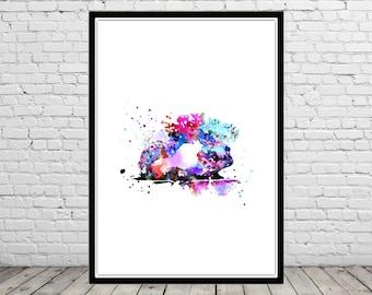 Hedgehog, hedgehog watercolor, cute hedgehog, hedgehog print, watercolor hedgehog, watercolor print, animal print (2590b)