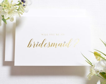 Bridesmaid Card - Personalised Will You Be My Bridesmaid Card - Bridesmaid Proposal - Bridesmaid ask - Bridesmaid Gift - Bridesmaid Invite