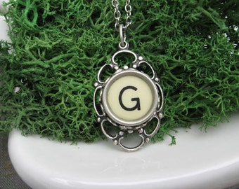 Typewriter Key Jewelry - Typewriter Necklace - Letter G - Typewriter Charm - Vintage Key