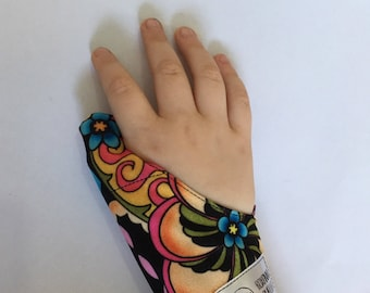 Cache-inch neon flower, weaning thumbs guard, cache-inch, protects thumb, anti sucking thumb glove, glove weaning
