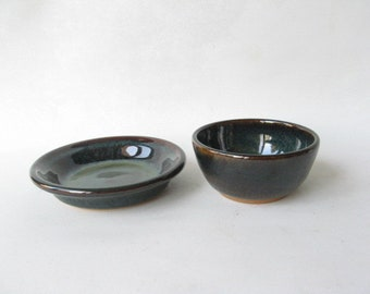 Small Bowl and Plate Serving Set, Condiment Dishes