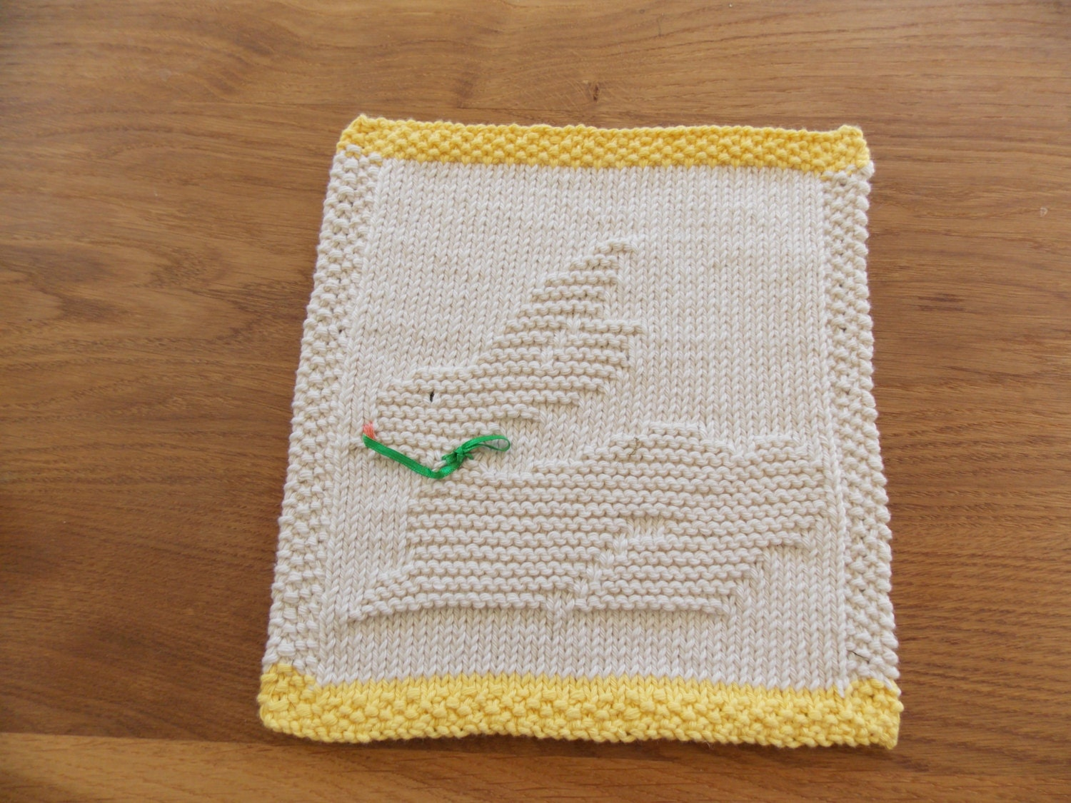Easter bunny dishcloth knitting pattern