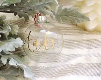 Custom Ornament- MEDIUM Christmas Ornament, Calligraphy Ornament, Custom Ornament, Christmas Gift, Christmas Ornament, Christmas Decor