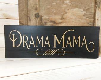 Drama queen, drama queen sign, princess gift, diva sign, drama queen gift, funny gift for her, drama queen decor, teen room sign, dorm decor