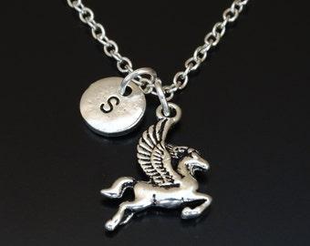 Pegasus Necklace, Pegasus Charm, Pegasus Pendant, Pegasus Jewelry, Pegasus Necklace, Pegasus Jewelry, Greek Mythology Jewelry