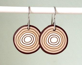 Earrings - Tree rings