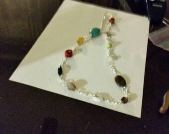 Sterling silverplated semi precious gemstone Necklace,  Gembayla