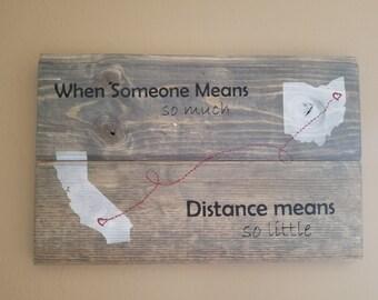 Long Distance Love Plaque