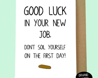 Good luck cards etsy uk funny new job card m4hsunfo
