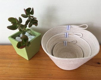 Rope Bowls  | Nestered Bowls | Tableware | Home Decor