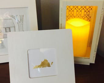 Handmade Custom Gold Foil States, Gold Foil, Custom Wall Art, Custom Home Decor, Real Gold Foil, Nursery Decor, Gallery Wall