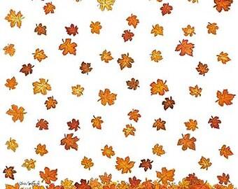 "Suzy's Zoo Fall Autumn Falling Leaves Scrapbook Paper 11 3/4"" x 11 3/4"" Sheet #5770"