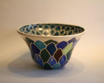 Ceramic hand sculpted bowl
