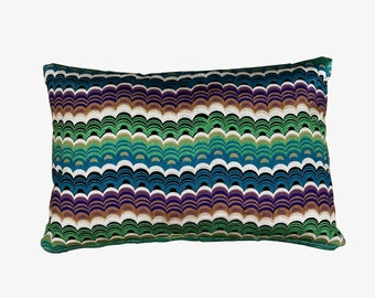 Osborne and Little - Multi-coloured wavy horizontal stripes in green, blue and purple