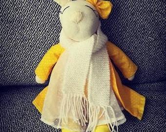soft toy, handmade, rag doll