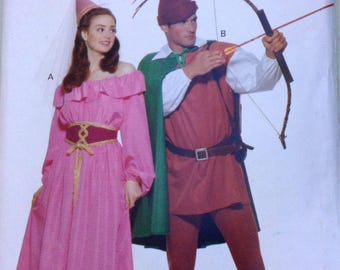 Womens and mens Robin Hood and Maid Marian costumes Butterick pattern  sc 1 st  Etsy & Maid marian costume | Etsy
