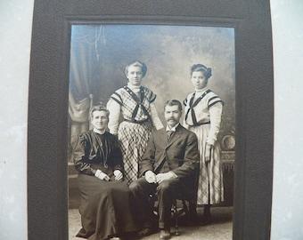 Antique 1900's Family Portrait Photograph