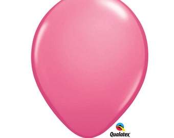 """12 or 25- 11"""" Rose Pink Balloons: Wedding, Shower, Birthday, Baby, Bachelorette, Breast Cancer Awareness, Girl, Homecoming, Fall Celebration"""