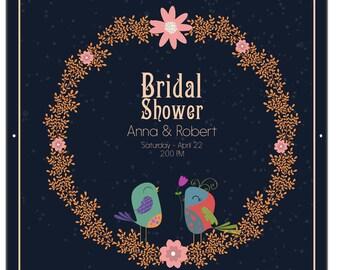 Bridal Shower Banner with Grommets - Bridal Shower Decor - Bride To Be Banner