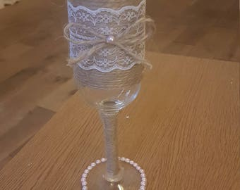 Vintage champagne flute