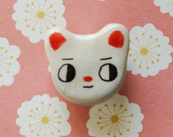 Polymer clay pin - bear pin - bear brooch - clay pin -handmade brooch