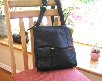 OSGOODE MARLEY Leather Crossbody Bag, Shoulder Bag, Organizer, Soft Black Pebbled Leather, Quality, Well Made, Hands Free, Travel, Excellent