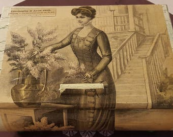 Large rounded box 14/04/1909 N 483 1900 fashion prints