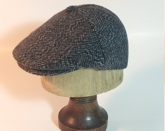 Traditional, Classic & Vintage Style 3 Panel Newsboy Cap