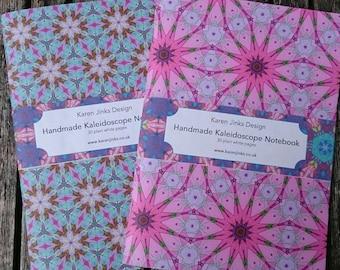 2 Handmade A5 Notebooks - Kaleidoscope Set 2