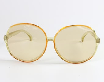 Ladies Oversized Large Sunglasses, Yellow / Retro Fashion