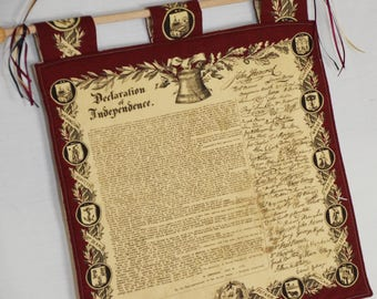Declaration of Independence Wall Hanger