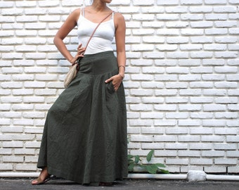 Wide leg pants cotton 100% and 3 sizes, All colours available(1425)
