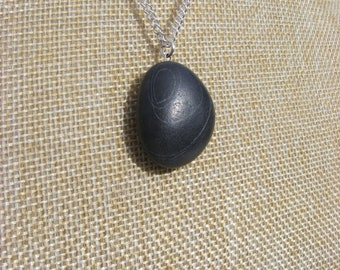 Irish Beach Pebble Pendant Necklace