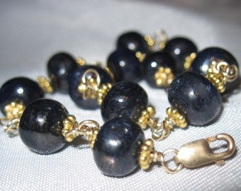Gold and Sapphire Bracelet