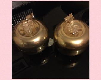 Vintage brass apple ornament