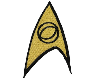 Star Trek Science Badge Patch Insignia Badge Logo Licensed Embroidered Iron On
